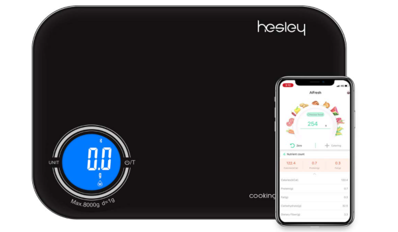 Hesley Kitchen Scale, Smart Food Scale,3 in 1 Function as Digital Kitchen